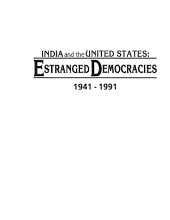 India and the United States: Estranged Democracies, 1941-1991