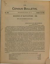 Census Bulletin: Issue 249; Issue 269