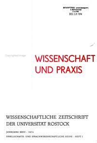 Wissenschaftliche Zeitschrift der Universit  t Rostock PDF
