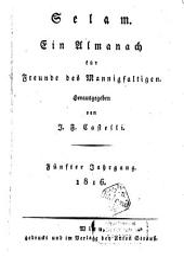 Selam: ein Almanach für die Freunde des Mannigfaltigen, Band 5