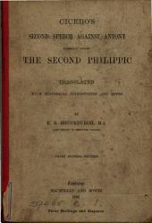Ciciero's second speech against Antony, tr. by E.S. Shuckburgh