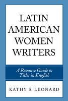 Latin American Women Writers PDF