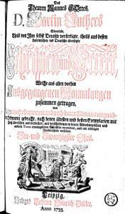S  mtliche theils von ihm selbst deutsch verfertigte  theils aus dessen lateinischen ins Deutsche   bersetste Schrifften und Werke     PDF