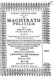 Theses politico-theologicae de magistratu politico