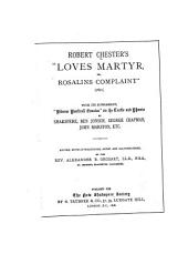 "Robert Chester's ""Loves Martyr"