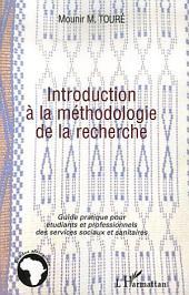 Introduction à la méthodologie de la recherche