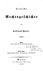 Deutsche rechtsgeschichte: Band 2