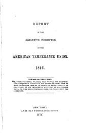 Report of Executive Committee of the American Temperance Union