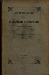 Del riordinamento degli stabilimenti di beneficenza nella città di Napoli per l'avvocato cav. Scipione Staffa da Vincenzo di Trinitapoli