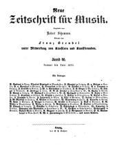 Neue zeitschrift fur Musik: Bände 46-47