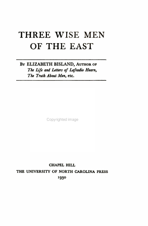 Three Wise Men of the East PDF