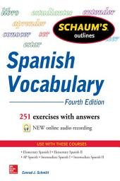 Schaum's Outline of Spanish Vocabulary, 4th Edition: Edition 4
