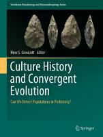 Culture History and Convergent Evolution PDF