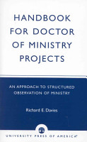 Handbook for Doctor of Ministry Projects PDF