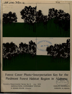 Forest Cover Photo interpretation Key for the Piedmont Physiographic Province in Alabama