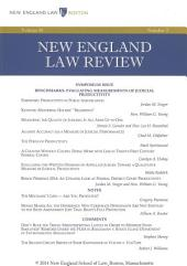New England Law Review: Volume 48, Number 3 - Spring 2014
