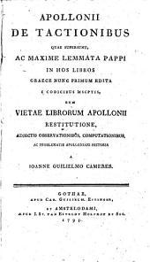 Apollonii De tactionibus quae supersunt: Volume 1