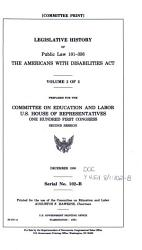 Legislative History Of Public Law 101 336 The Americans With Disabilities Act Book PDF