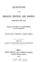 Questions on the collects, Epistles and Gospels