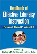 Handbook of Effective Literacy Instruction