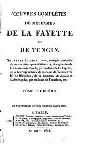 Oeuvres complètes: Mémoires de la cour de France : Préface de l'Histoire de Mme Henriette d'Angleterre ; Histoire de Mme Henriette d'Angleterre [u.a.], Volume3