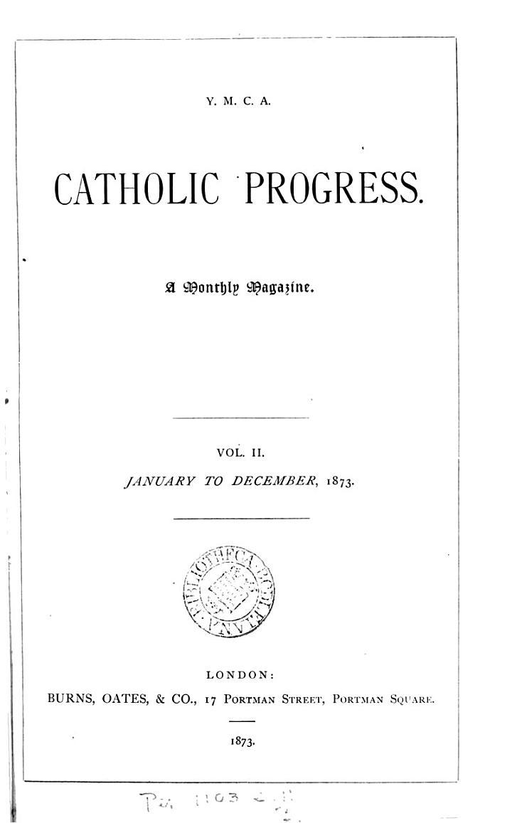 Catholic progress
