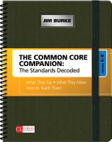 The Common Core Companion  The Standards Decoded  Grades 6 8 PDF