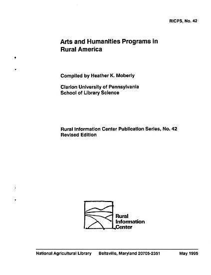 Arts and Humanities Programs in Rural America PDF