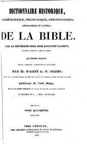 Encyclopédie théologique: Dictionnaire historique, archéologique, philologique, chronologique, géographique et littéral de la Bible