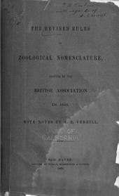 The Revised Rules of Zoological Nomenclature