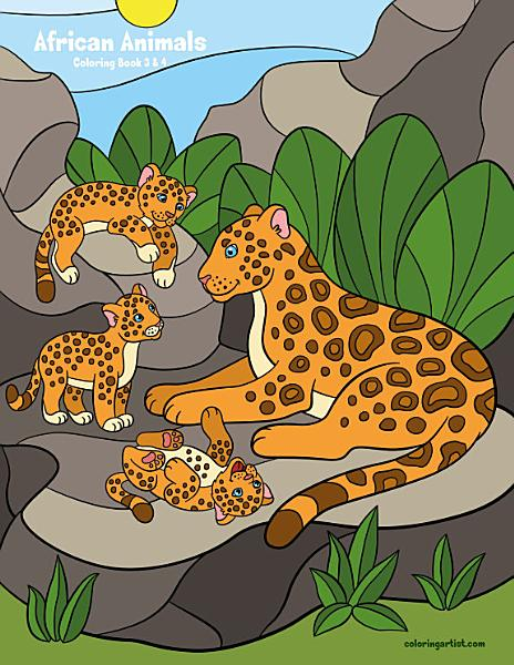 African Animals Coloring Book 3   4
