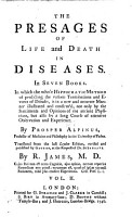 The Presages of Life and Death in Diseases PDF