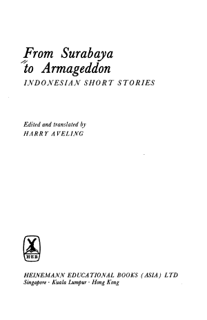 From Surabaya to Armageddon