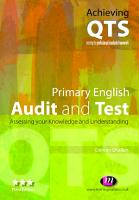 Primary English  Audit and Test PDF