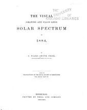 The Visual (grating and Glass Lens) Solar Spectrum in 1884: Part 3