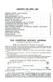 The Christian Science Journal: Volume 15