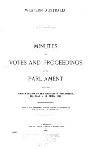 Minutes and Votes and Proceedings of the Parliament  with Papers Presented to Both Houses PDF