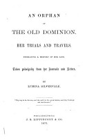 An Orphan of the Old Dominion PDF