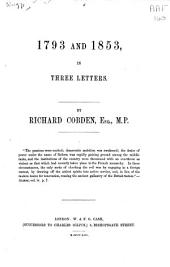 1793 and 1853, in Three Letters