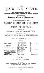 The Law Reports. Queen's Bench Division: Volume 25
