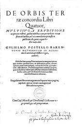 De orbis terrae concordia libri IV.