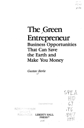 The Green Entrepreneur PDF