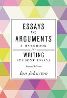 Essays and Arguments  A Handbook for Writing Student Essays PDF