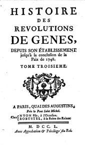 Histoire des révolutions de Gênes jusqu'à 1748