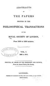 Abstracts of the Papers Printed in the Philosophical Transactions of the Royal Society of London: Volume 1
