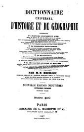 Dictionnaire universel d'histoire et de géographie: contenant, Volume2