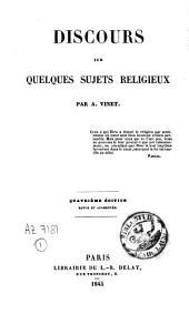 Discours sur quelques sujets religieux