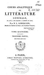 Cours analytique de litterature generale: tel qu'il été professé a l'Athénée de Paris