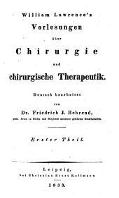 Vorlesungen über Chirurgie und chirurgische Therapeutik: 1