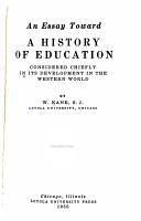 An Essay Toward a History of Education PDF